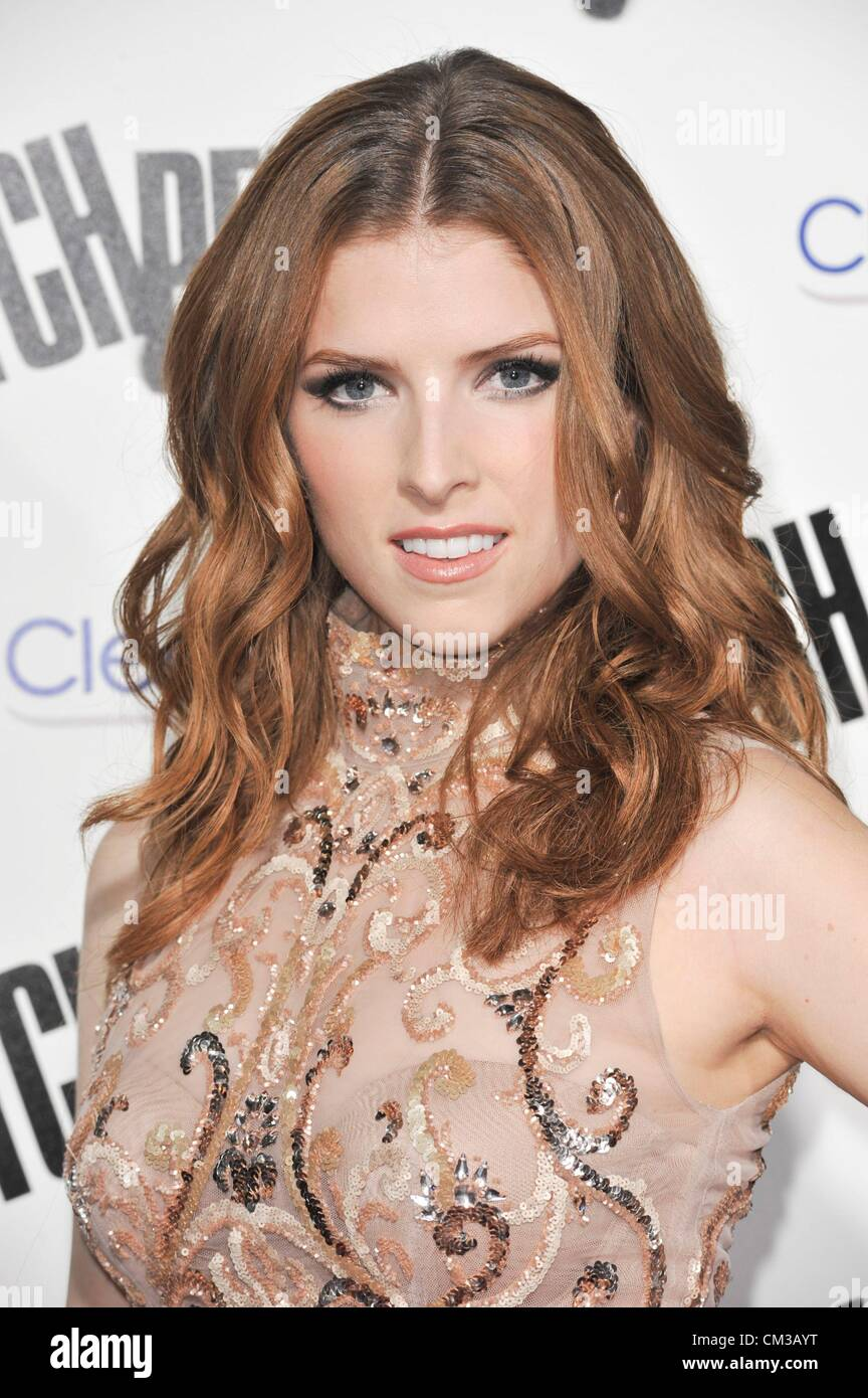 Anna Kendrick arrivals PITCH PERFECT Premiere Arclight Hollywood Los Angeles CA September 24 2012 Photo Elizabeth - Stock Image