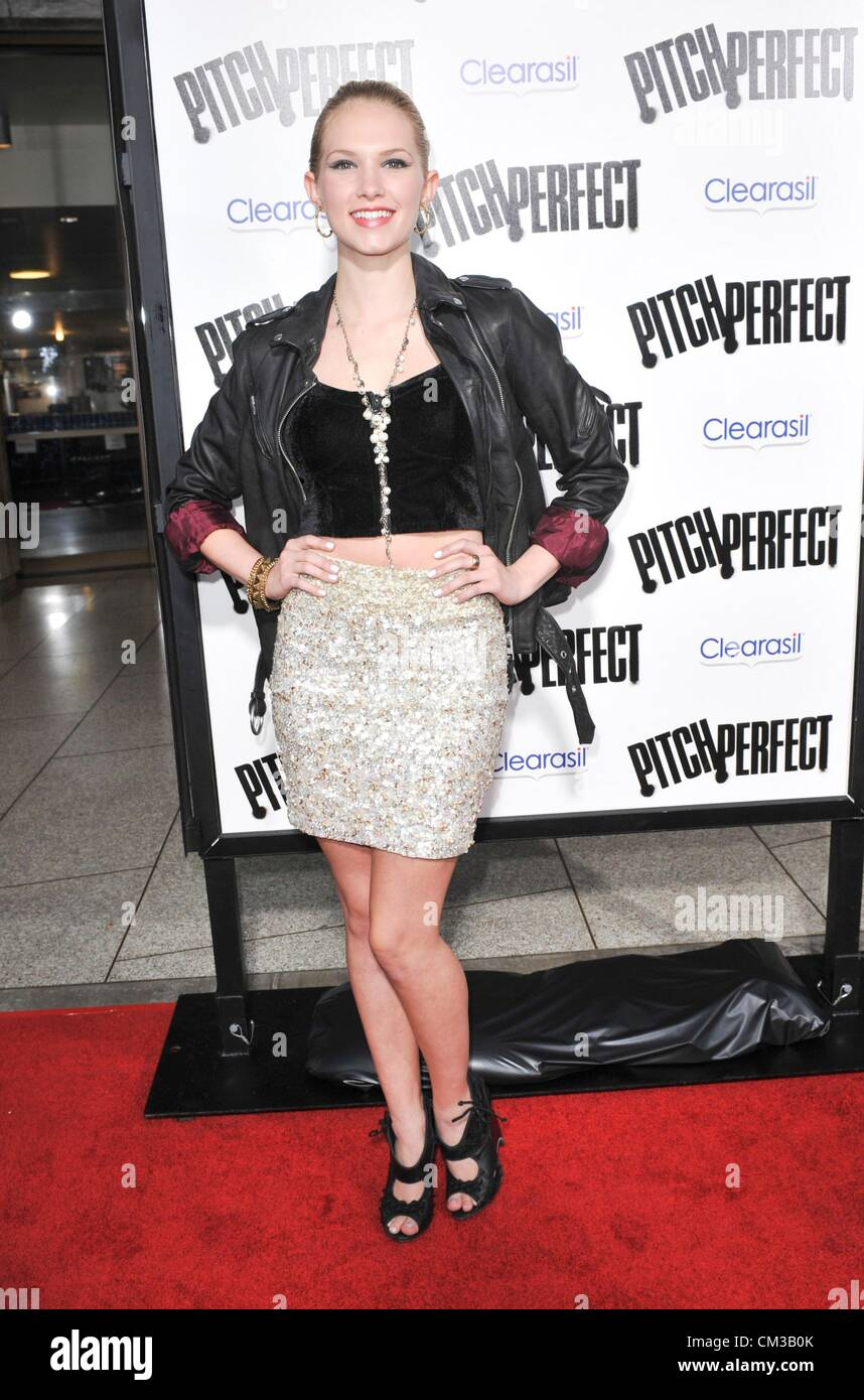 Claudia Lee arrivals PITCH PERFECT Premiere Arclight Hollywood Los Angeles CA September 24 2012 Photo Elizabeth - Stock Image