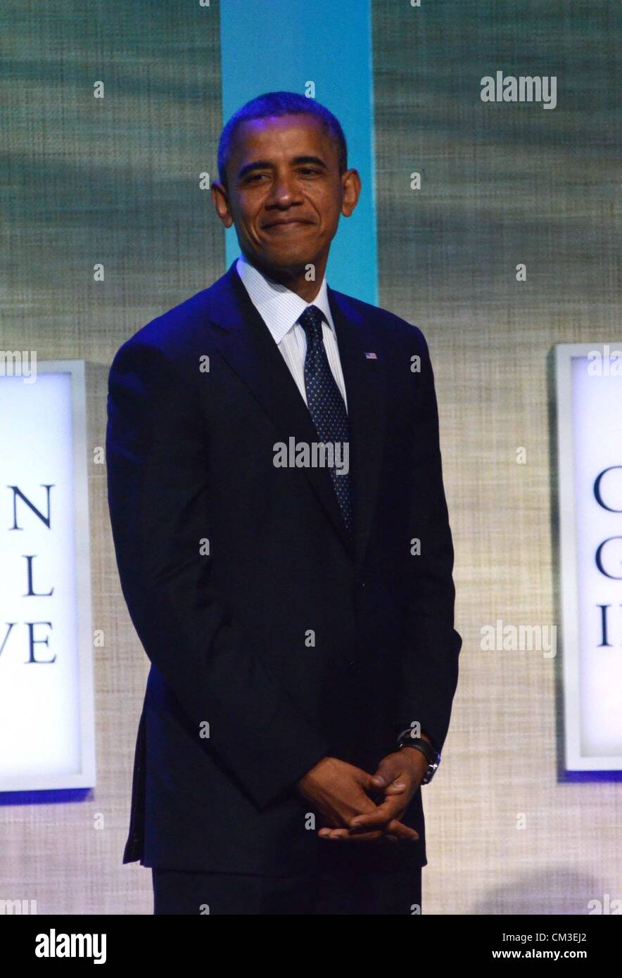 Barack Obama in attendance Clinton Global Initiative Annual Meeting - TUE Sheraton Hotel New York NY September 25 - Stock Image