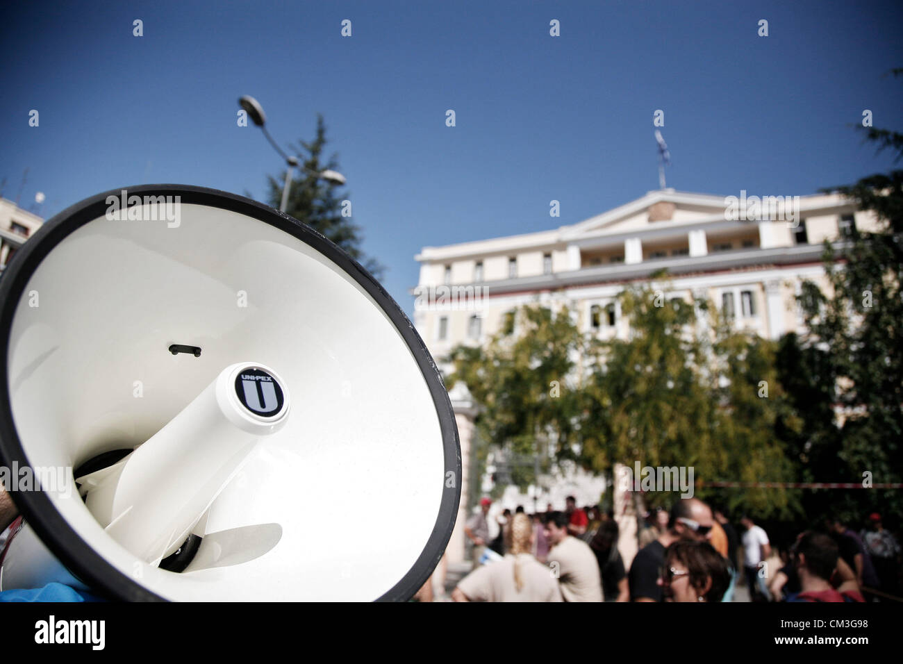 Thessaloniki, Greece. 26th September 2012. Greek workers have started a Nationwide 24-hour general strike in protest - Stock Image