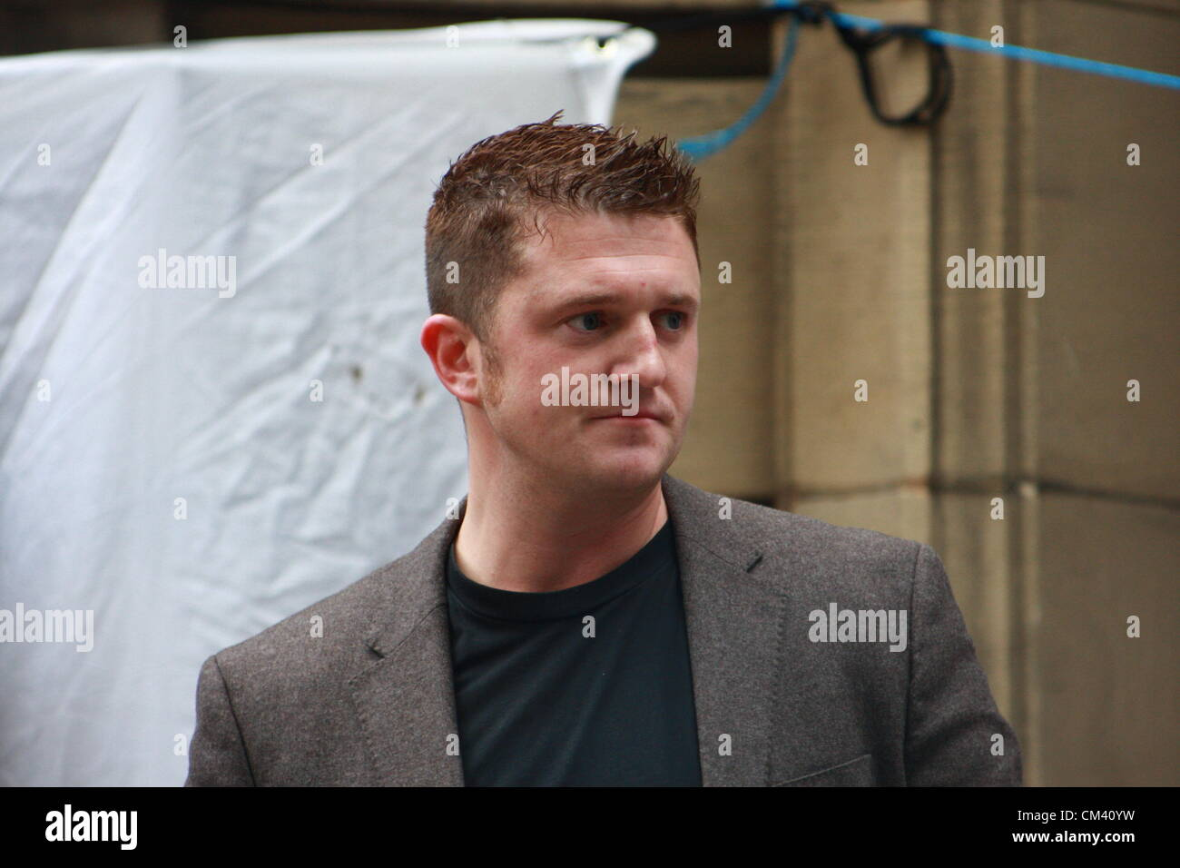Tommy Robinson co-founder of the English Defence League - EDL - Stock Image