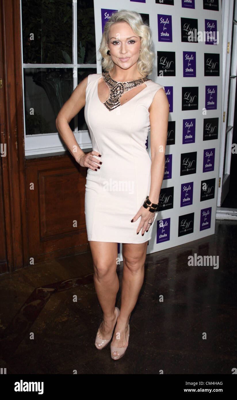 London, UK. Kristina Rihanoff at the Style for Stroke Launch Party - Inside Arrivals - held at No.5 Cavendish Square, - Stock Image