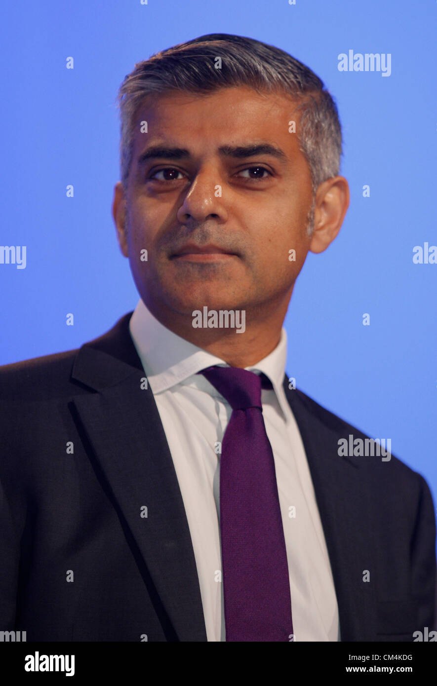 SADIQ KHAN MP SHADOW LORD CHANCELLOR AND SEC 03 October 2012 MANCHESTER CENTRAL MANCHESTER  ENGLAND Stock Photo