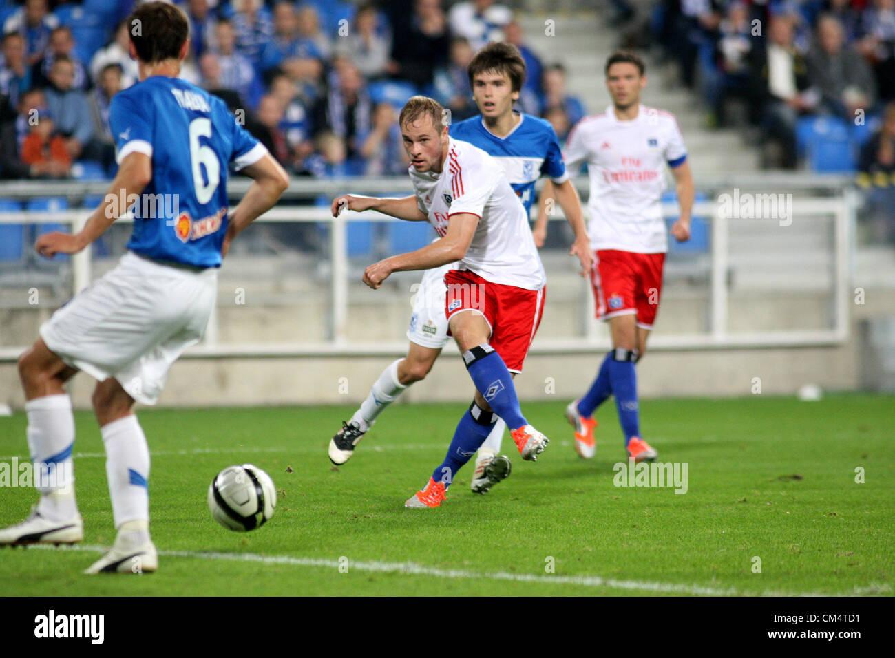 03.10.2012. Poznan, Poland, UEFA Champions League football. Lech Poznan, versus Hamburg.  MAXIMILIAN BEISTER (HSV) - Stock Image