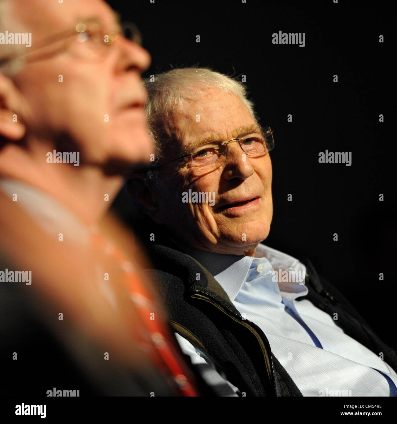 Oct 4, 2012 - GARDEN CITY, NEW YORK U.S. - (L - R) NY State Senator KEMP HANNON and Mercury astronaut SCOTT CARPENTER - Stock Image