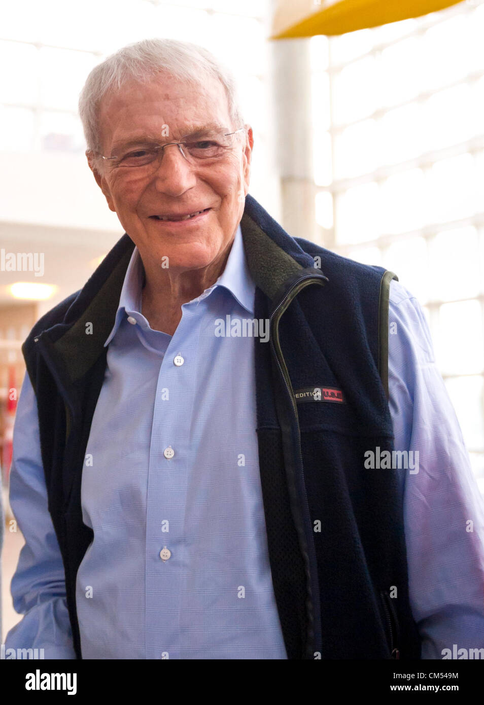 Oct 4, 2012 - GARDEN CITY, NEW YORK U.S. - Mercury astronaut SCOTT CARPENTER is a special guest at the new JetBlue - Stock Image