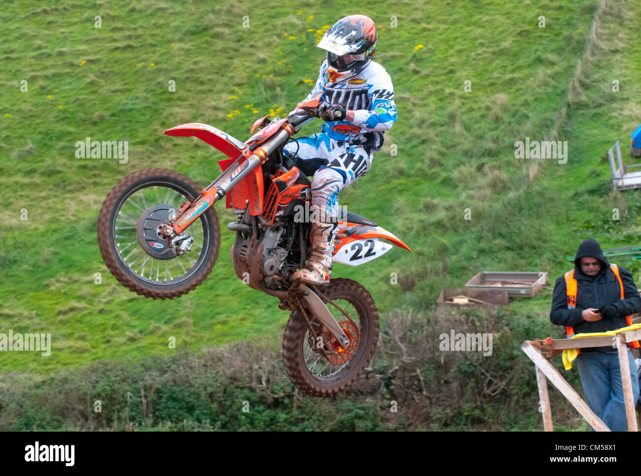 MAXXIS ACU MX1 British Champion Kevin Strijbos racing in race 1 of the MAXXIS British Motocross Championship MX - Stock Image
