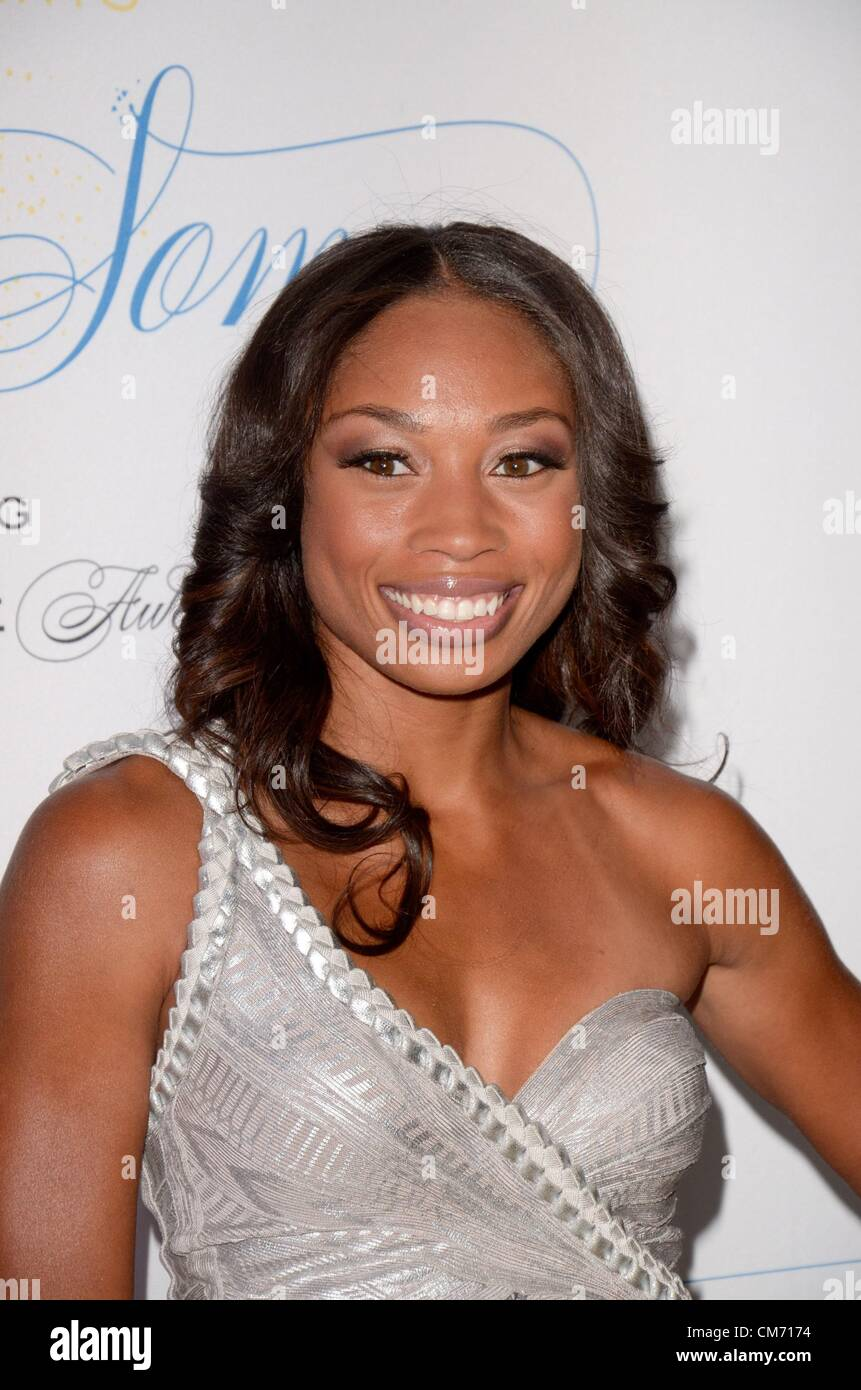 New York, USA. 18th October 2012. Allyson Felix at arrivals for The Flawsome Ball Benefiting The Tyra Banks TZONE - Stock Image