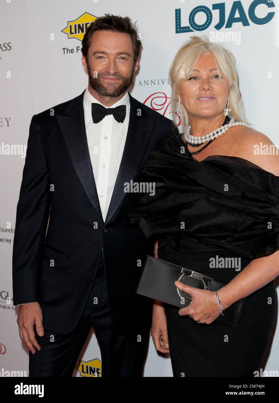 Hugh Jackman and wife Deborra-Lee Furness at the Fight Cancer Foundation's 20th Annual Red Ball on October 20, - Stock Image