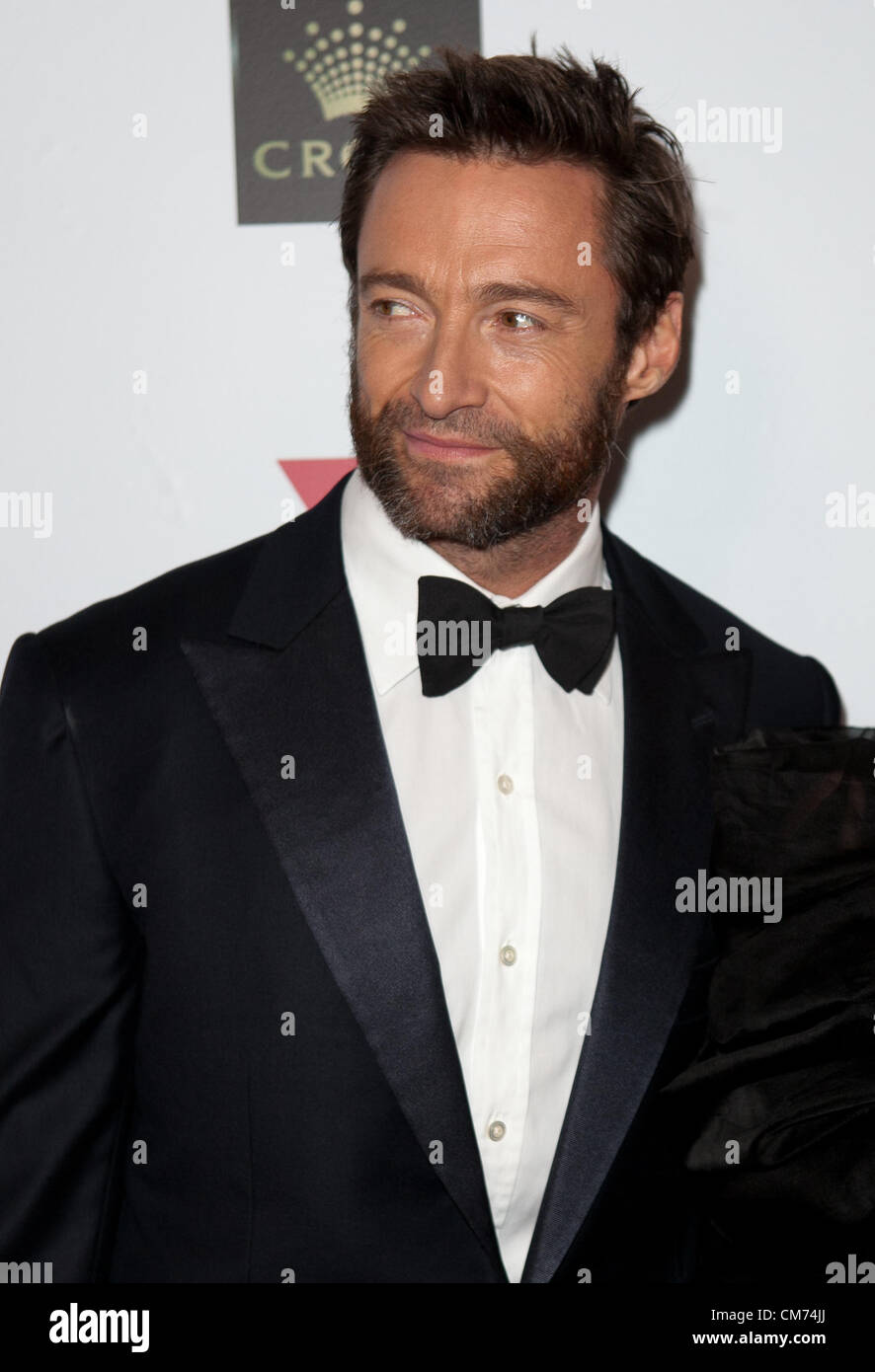 Hugh Jackman at the Fight Cancer Foundation's 20th Annual Red Ball on October 20, 2012 in Melbourne, Australia. - Stock Image
