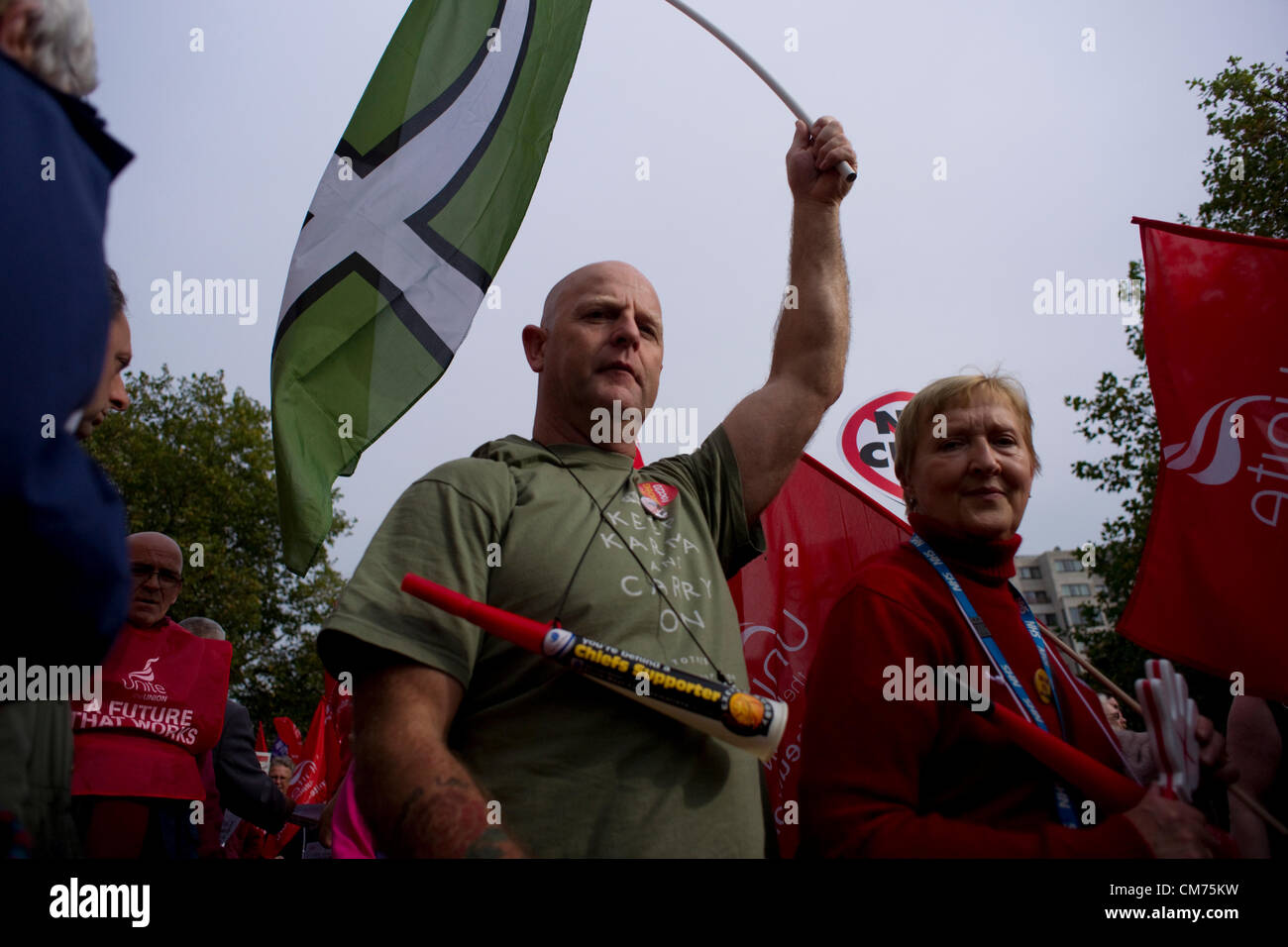 London, UK. 20th October 2012. TUC Rally in Hyde Park.London, UK. 20th October 2012. Credit:  Stephen Burrows / - Stock Image