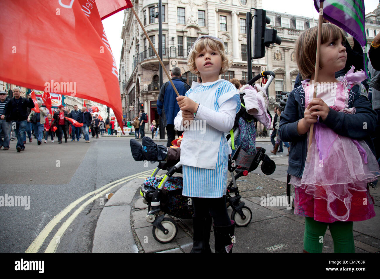 London, UK. Saturday 20th October 2012. TUC (Trades Union Congress) march 'A Future That Works'. Demonstration - Stock Image