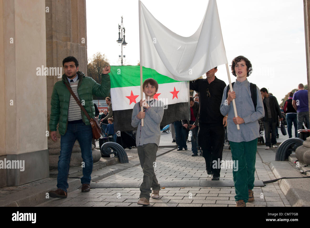 Saturday 20th October 2012. Berlin, Germany. Global Solidarity Day for the Syrian People. - Stock Image