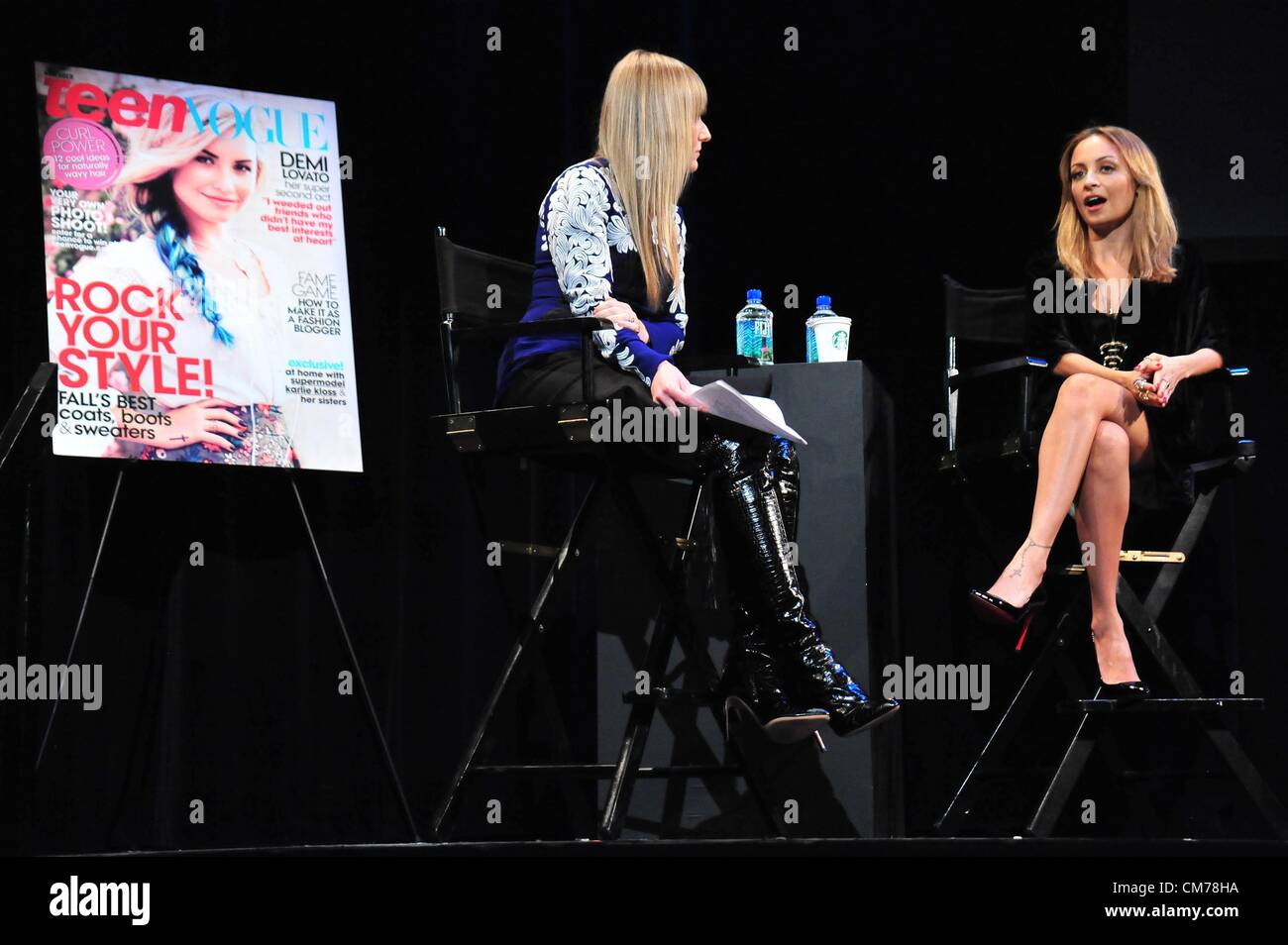 Amy Astley, Nicole Richie at a public appearance for TEEN VOGUE Fashion  University, The Hudson Theatre, New York, NY October 20, 2012.