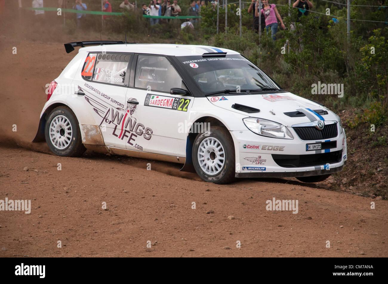 21.10.2012. Olbia, Italy Rally Italia Sardegna 2012,  italian stage of World Rally Championship. Day 4. Special - Stock Image