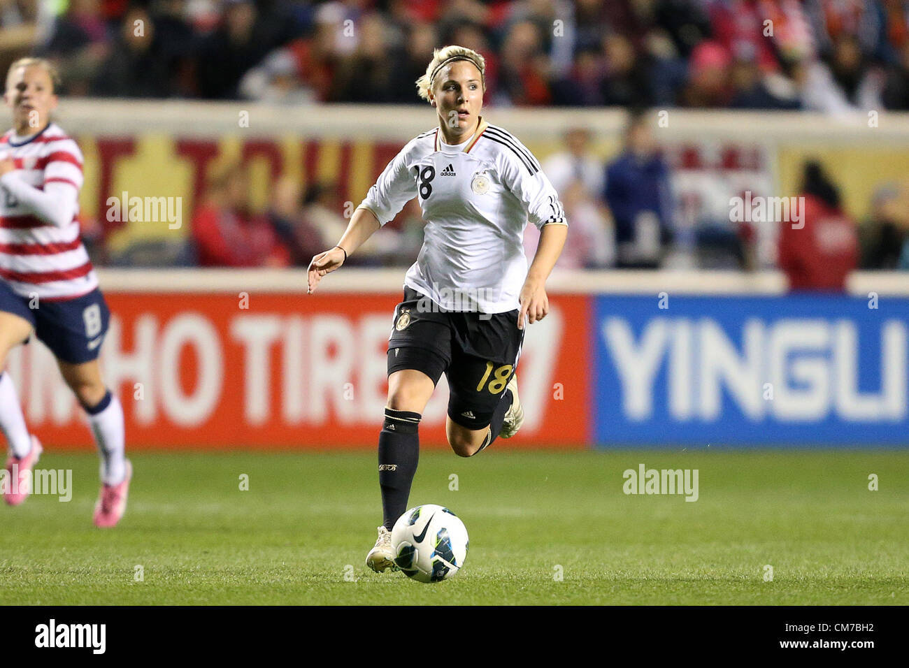 20.10.2012. Chicago, USA.  Svenja Huth (GER). The United States Women's National Team played the Germany Women's - Stock Image