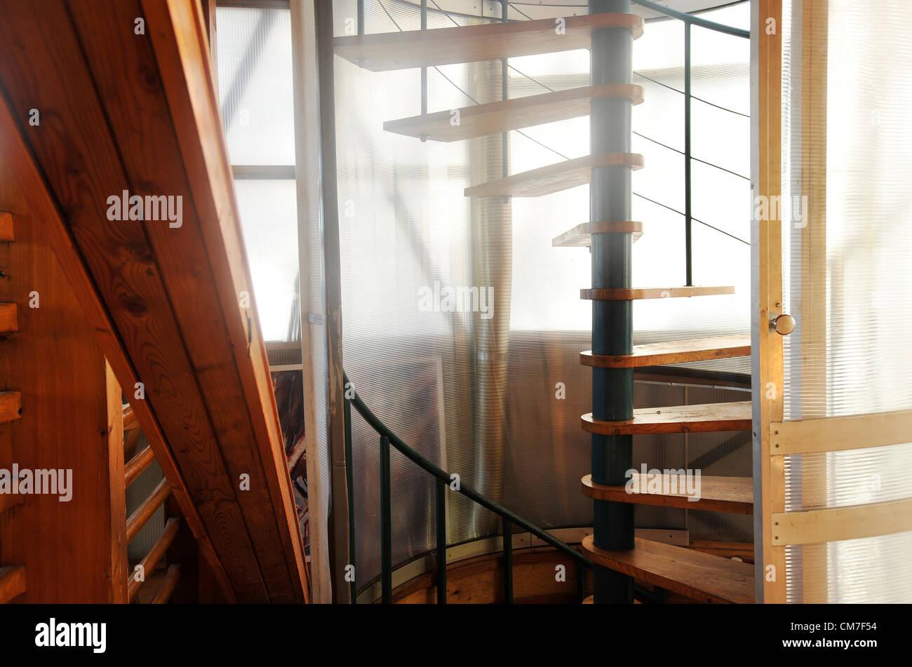 Czech architect Bohumil Lhota and his unique eco-house in Velke Hamry won the highest award in the E.ON Energy Globe - Stock Image
