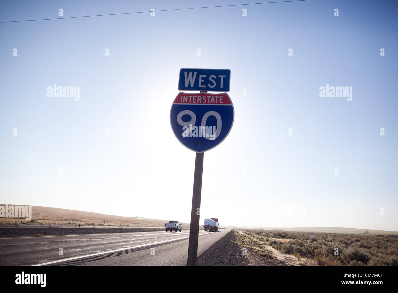 Aug. 23, 2012 - Washington, U.S - A Interstate 90 sign in Washington I Map Us With Interstates on us route 90 map, wi i-90 map, i-90 minnesota map, hwy 90 map, i-94 montana weather map, i-90 road map, i 90 freeway map, i 90 toll map, i 90 highway, us i-90 map, i 90 east map,