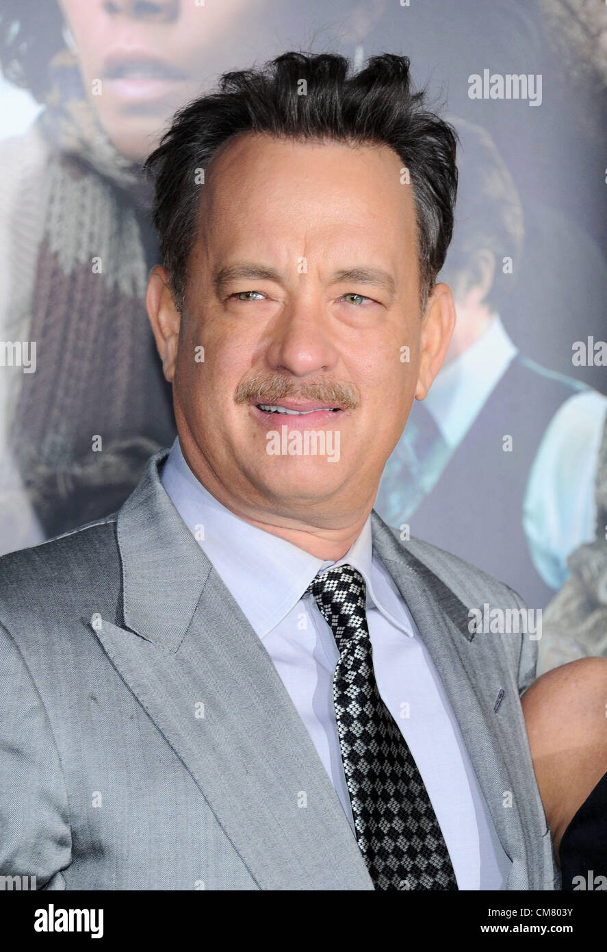 Los Angeles, USA. 24th October 2012. Tom Hanks arriving at the film premiere of 'Cloud Atlas' in Los Angeles - Stock Image