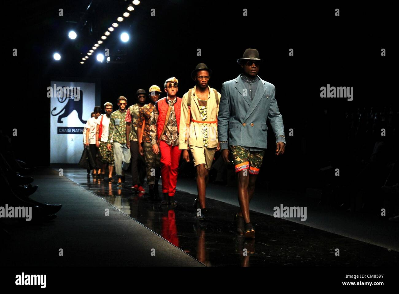Johannesburg South Africa October 25 Male Models Showcase Designs Stock Photo Alamy