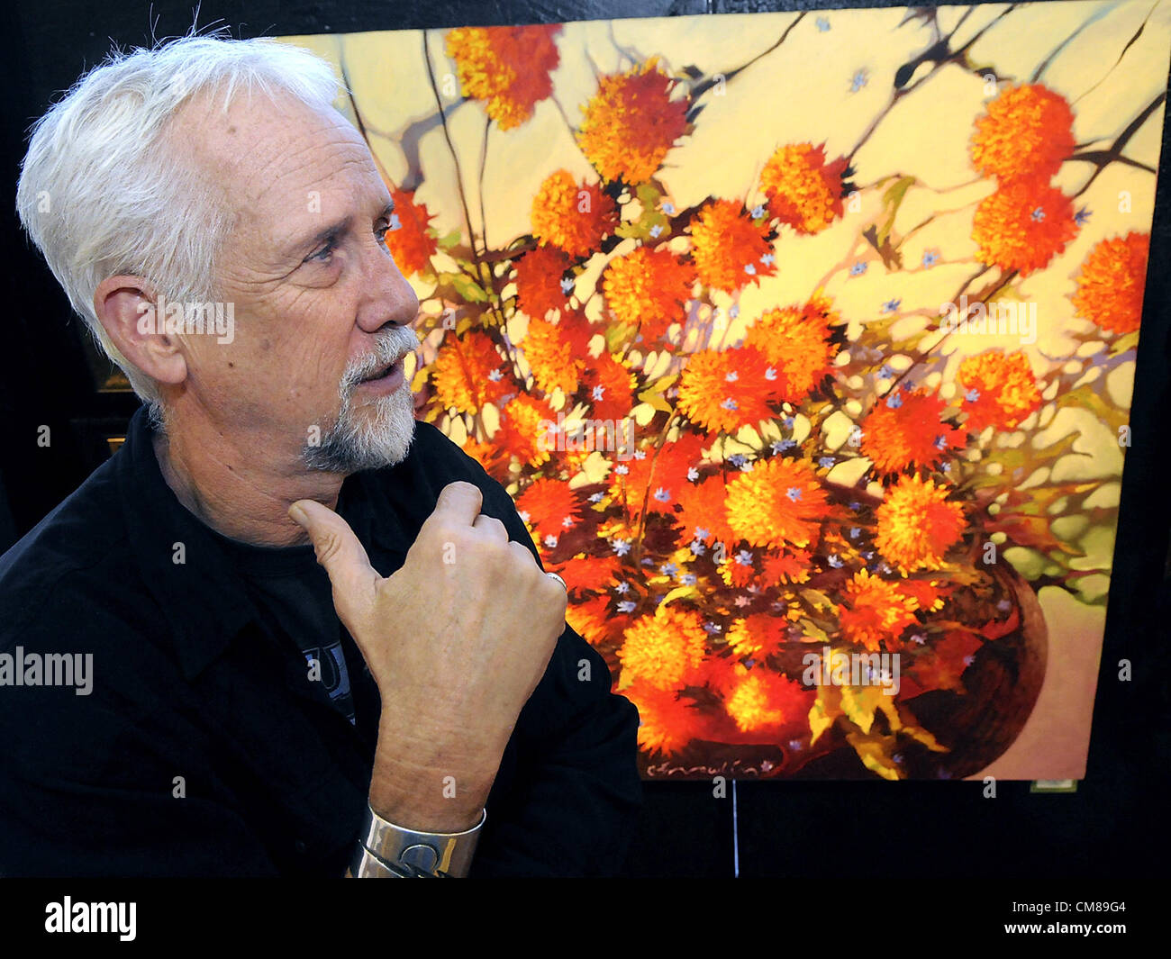 Oct. 26, 2012 - Albuquerque, NM, U.S. - New Mexico artist  B.C. Nowlin talks about his still life piece called ''Dragon Stock Photo