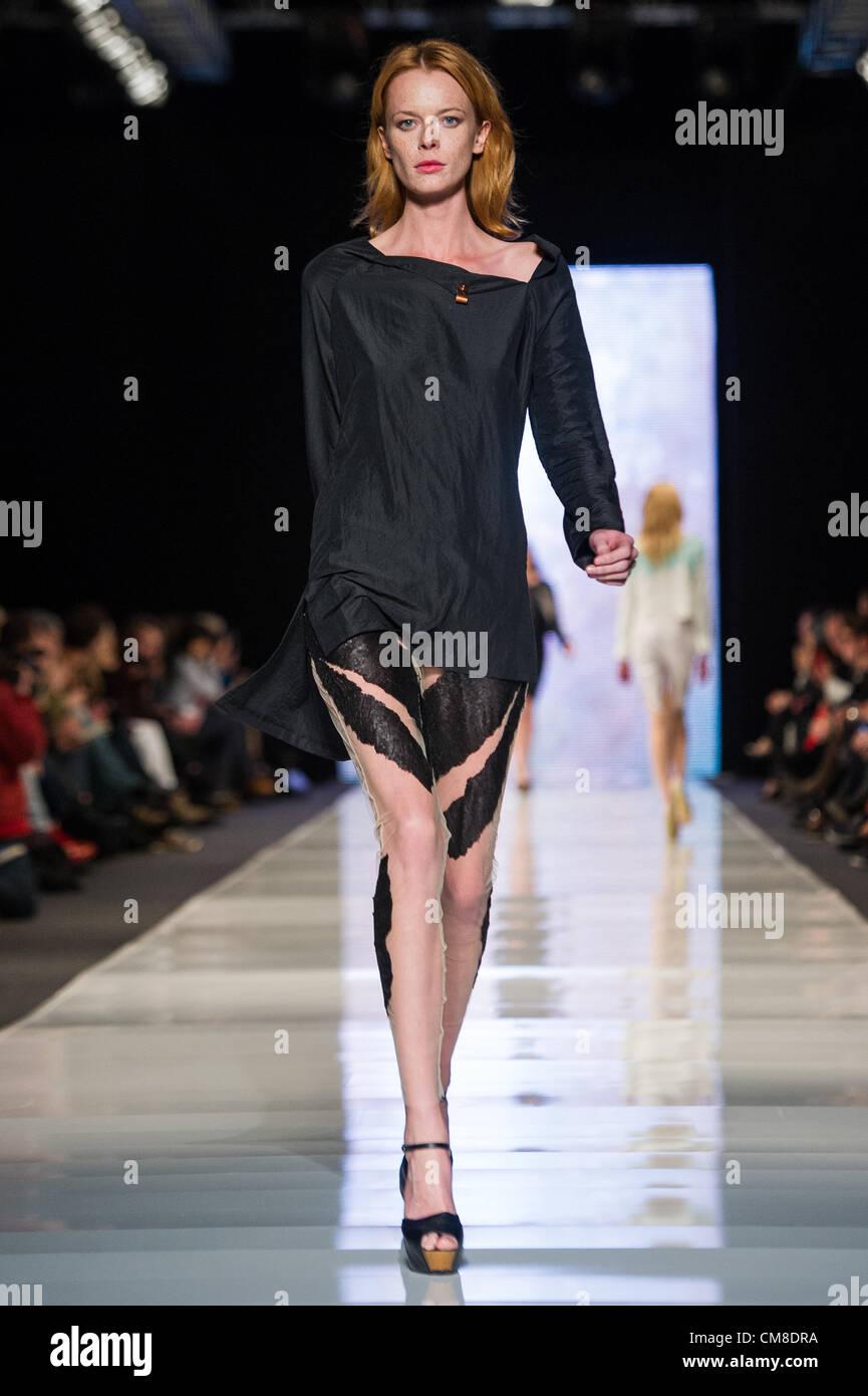 27.10.2012 - Lodz , Fashion Philosophy Fashion Week Poland S/S 2013  N/Z Agata Wojtkiewicz  Fot. Mariusz Palczynski - Stock Image