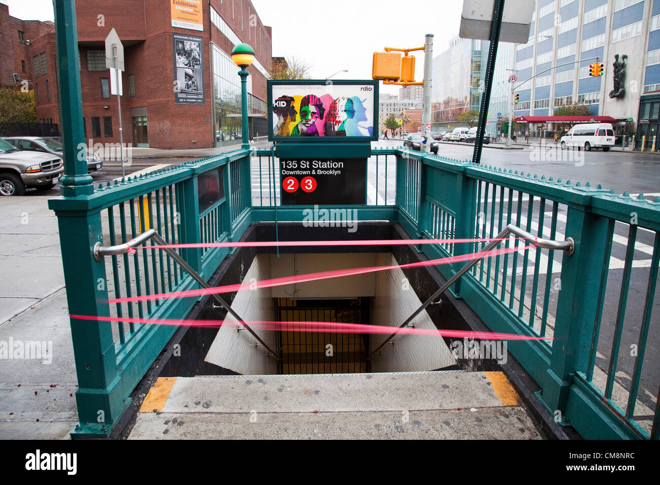 New York City, New York, USA. 29th October, 2012. The subway system has been shut down as hurricane Sandy hits New Stock Photo