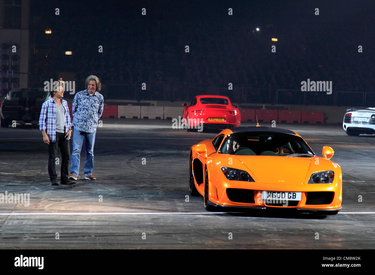 Image from the Top Gear Live Show at the National Exhibition Centre Birmingham England 28th October 2012 - Stock Image