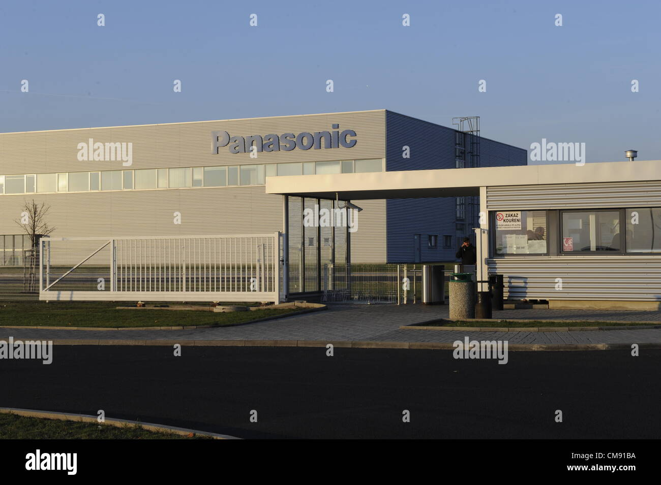 Panasonic company ends with the production in the Triangle industrial zone near Zatec. Panasonic company confirmed Stock Photo