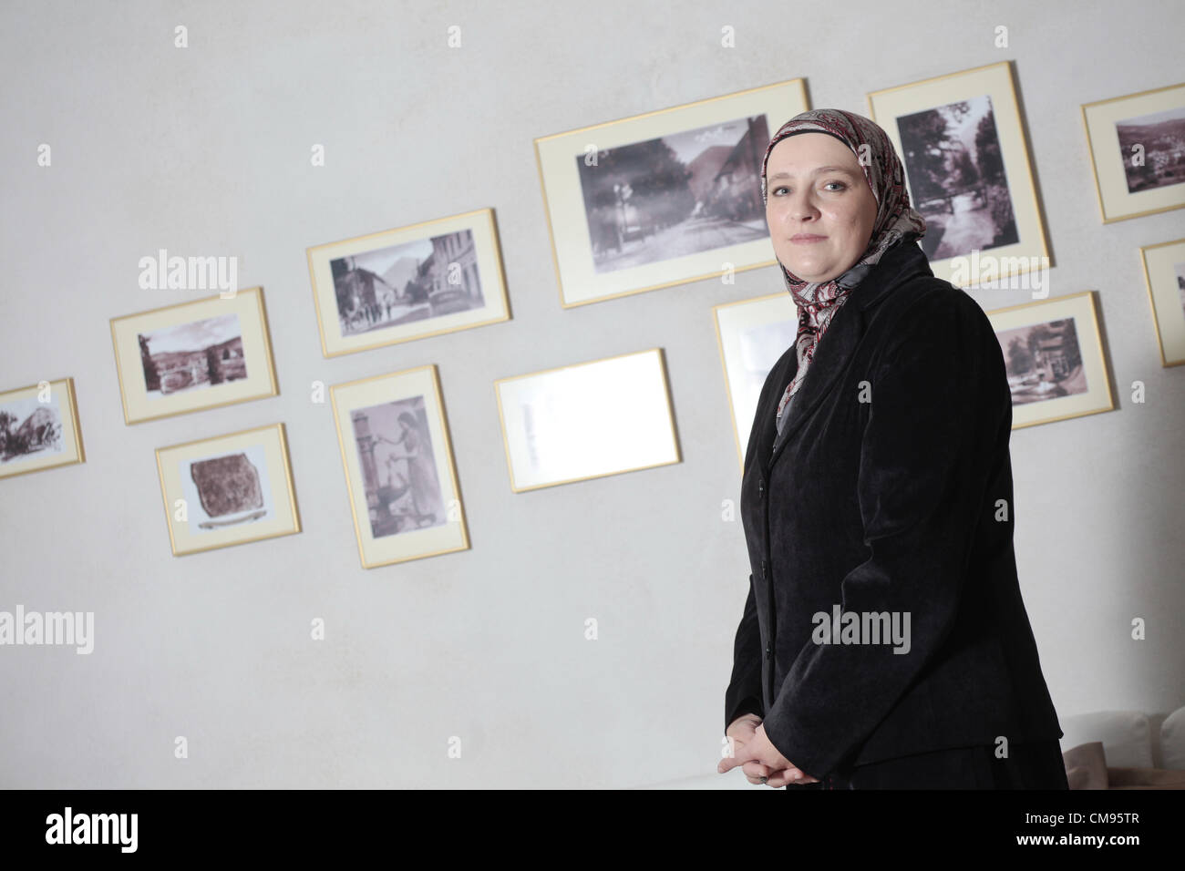Visoko, Bosnia. 1st November 2012. Amra Babic, mayor of the Bosnian town of Visoko, 30 km north of Sarajevo, Bosnia. - Stock Image