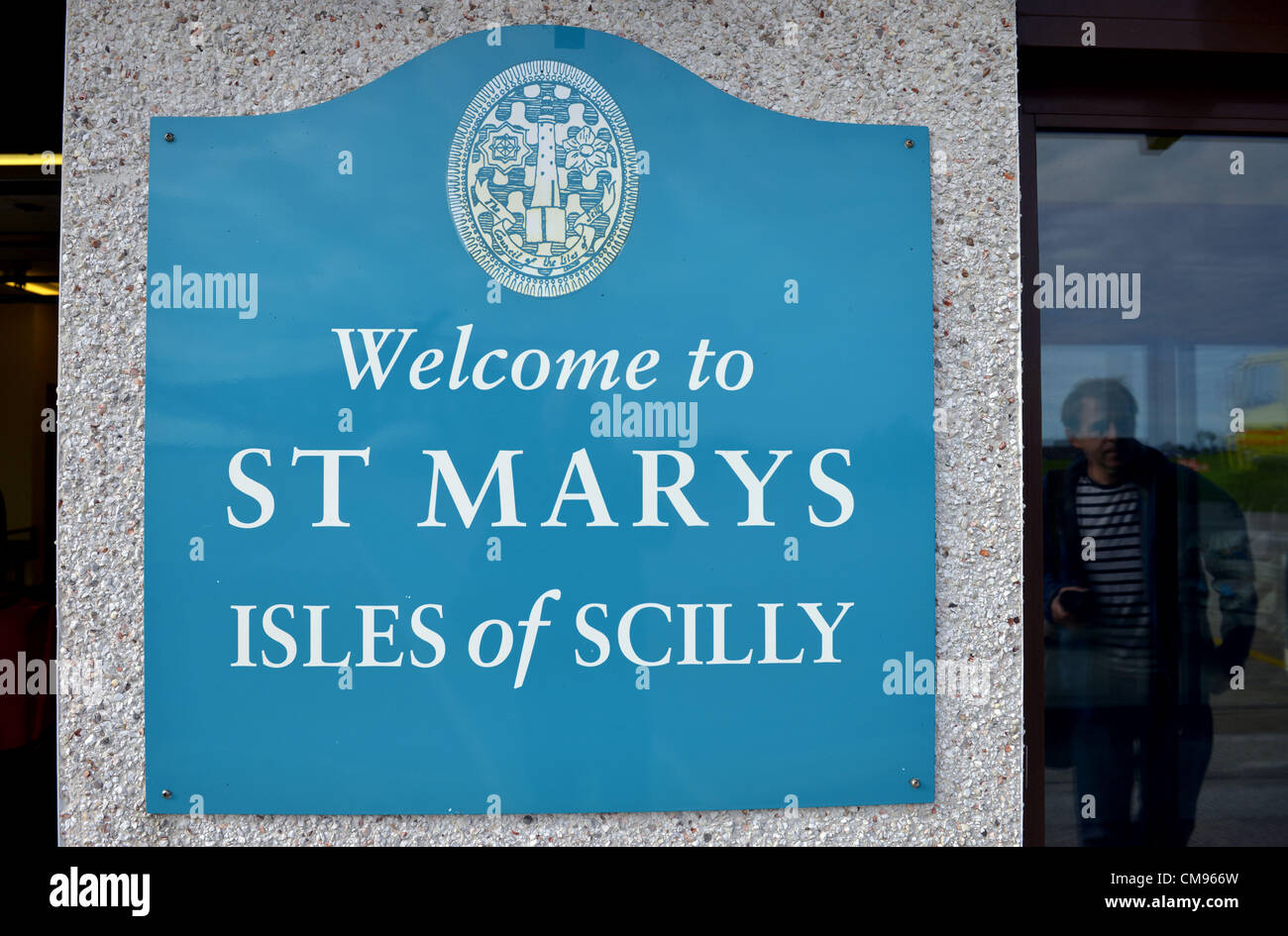 Welcome to St Mary's in the Isles of Scilly. UK - Stock Image