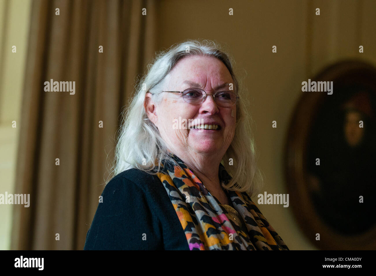 Gillian Clarke, poet,  at The first Gwyl Dinefwr Literature Festival, Newton House, LLandeilo, Carmarthenshire Wales - Stock Image