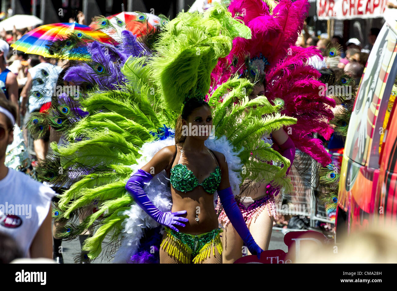 July 1, 2012 - Toronto, Ontario, Canada - The 32nd annual Toronto Pride Parade gathered hundreds of thousnads poeple - Stock Image