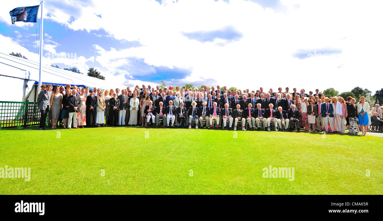 Photocall of passed British rowing Olympians  in the Stewart Enclosure at Henley Royal Regatta 2012 .Over 170 of - Stock Image