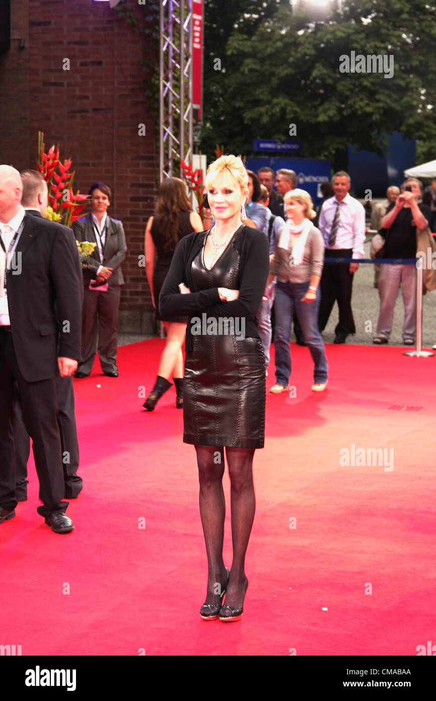 Melanie Griffith pose on the red carpet for the press, and presents her new movie - Stock Image