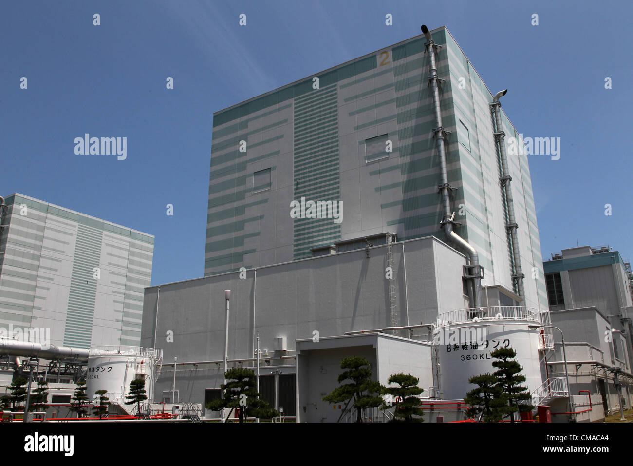 July 4, 2012 - Japan - General view of the No. 2 reactor at the Fukushima Dai-ni nuclear power station in Naraha Stock Photo