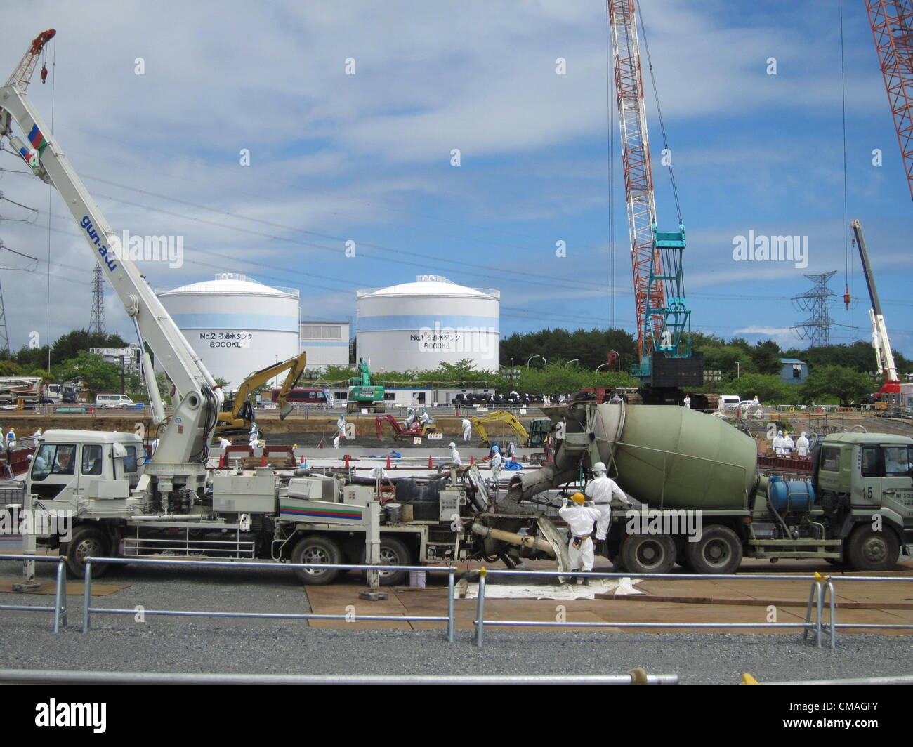 July 5, 2012 - Fukushima, Japan - In this handout picture taken on June 11, 2012 released by Tokyo Electric Power Stock Photo