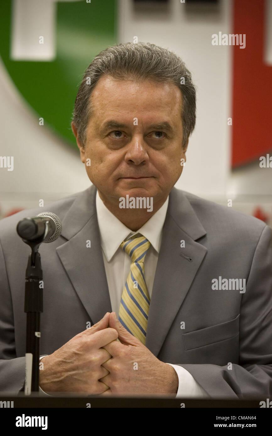 July 5, 2012 - Mexico, Distrito Federal, Mexico - Jueves, 05 de Julio de 2012. El presidente del Partido  Revolucionario - Stock Image