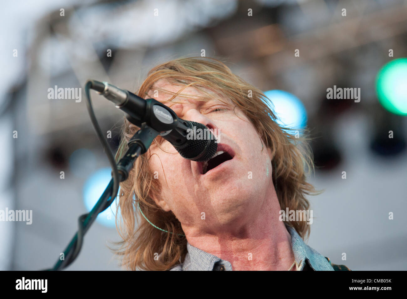 LINCOLN, CA - July 6: Jeff Pilson with Foreigner performs at Thunder Valley Casino Resort in Lincoln, California - Stock Image