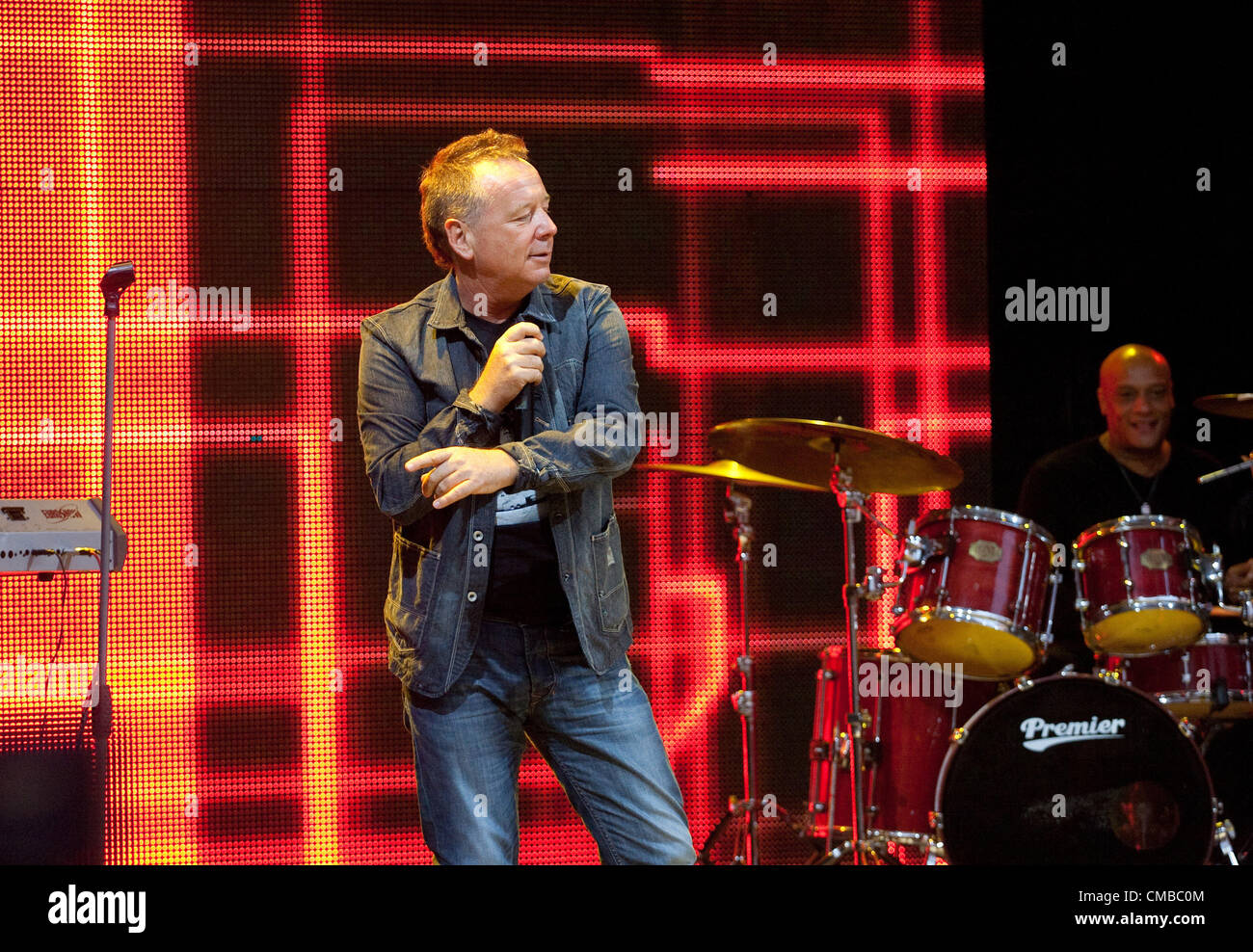 July 5, 2012 - St. Petersburg, Russia - Scottish rock band Simple Minds visiting St.Petersburg to perform at charity - Stock Image