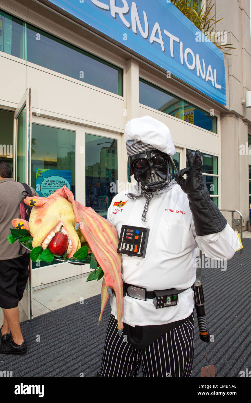 July 12, 2012 - San Diego, California, U.S - Chef Darth Vader, Michael Olsen, came all the way from Iowa to attend. - Stock Image