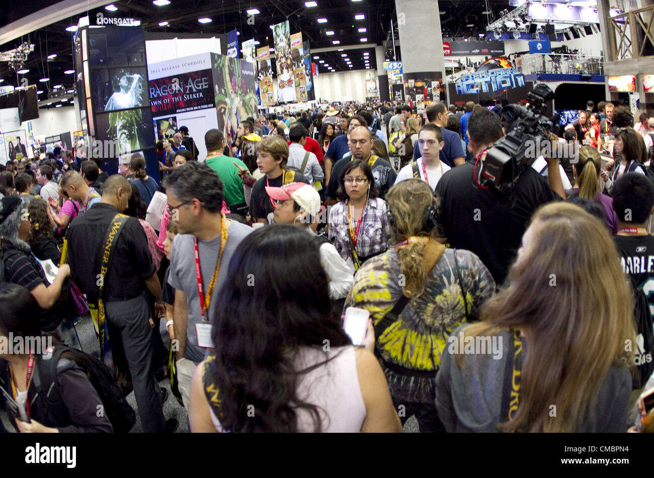 July 11, 2012 - San Diego, California, U.S - Attendees gather in the Exhibit Hall for Preview Night at Comic-Con - Stock Image