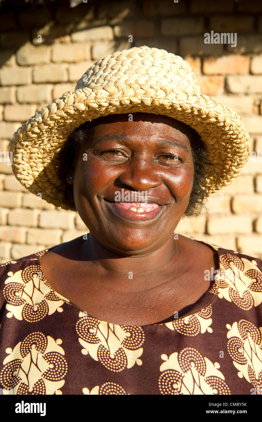 May 29, 2012 - Nkashe (Village, Zimbabwe - May 29, 2012, Gwanda, Zimbabwe -  A member of a Village Savings and Lending - Stock Image