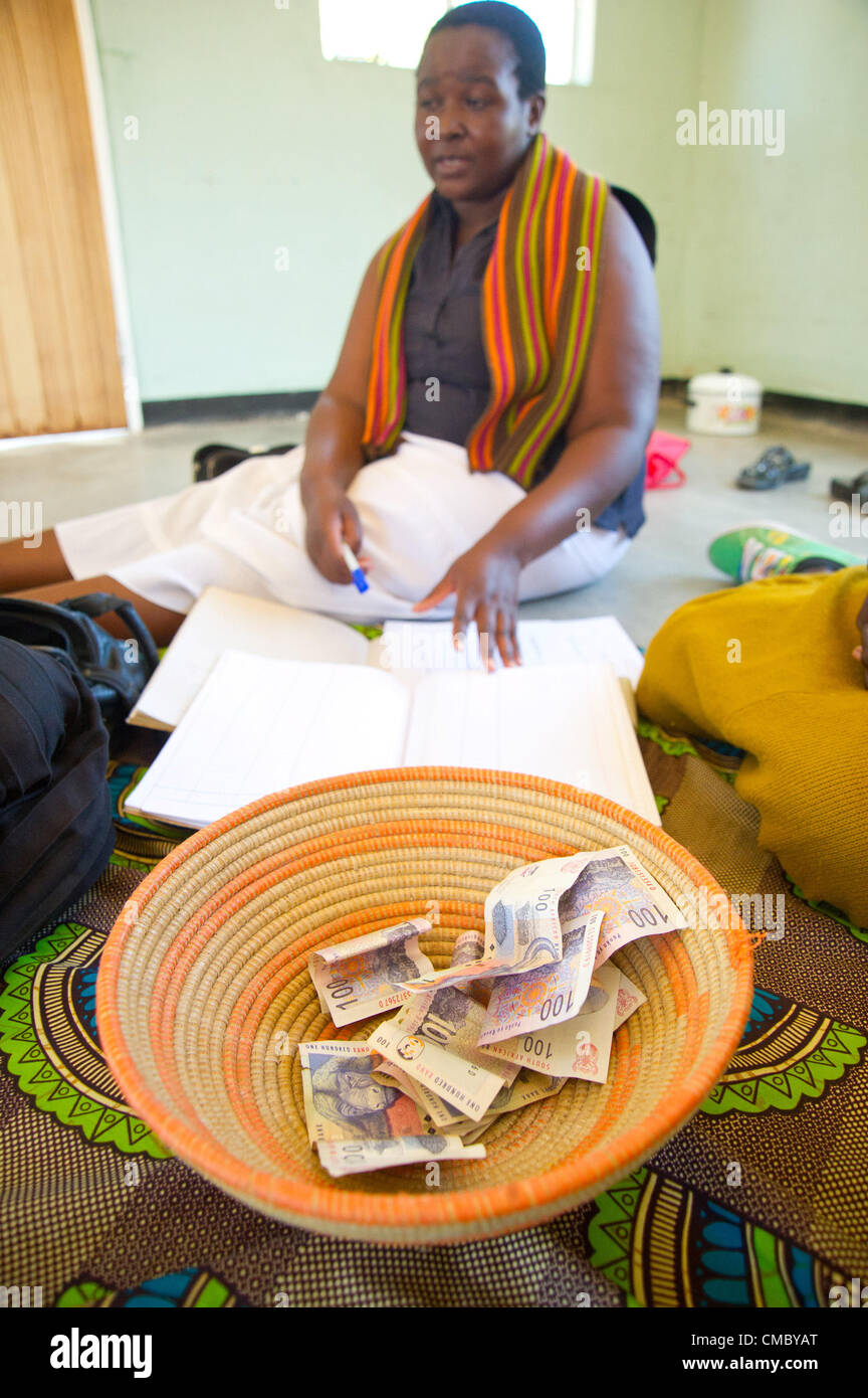 June 7, 2012 - Manyewu (Village, Zimbabwe - June 7, 2012, Bulilima, Zimbabwe - Bekezela Village Savings and Lending - Stock Image