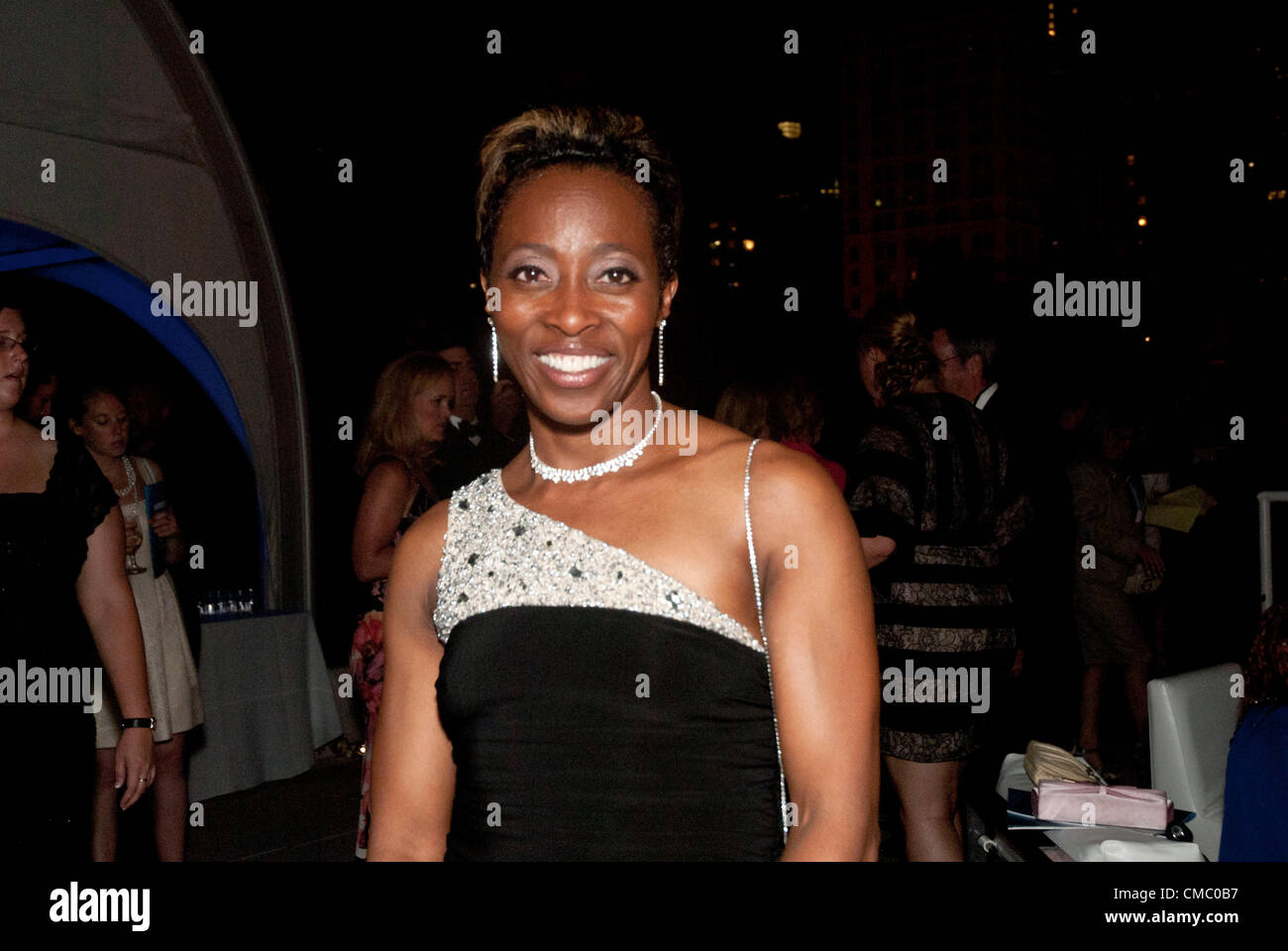 July 13, 2012 - Chicago, Illinois, U.S. - Athlete GAIL DEVERS is inducted into the U.S. Olympic Hall of Fame during - Stock Image