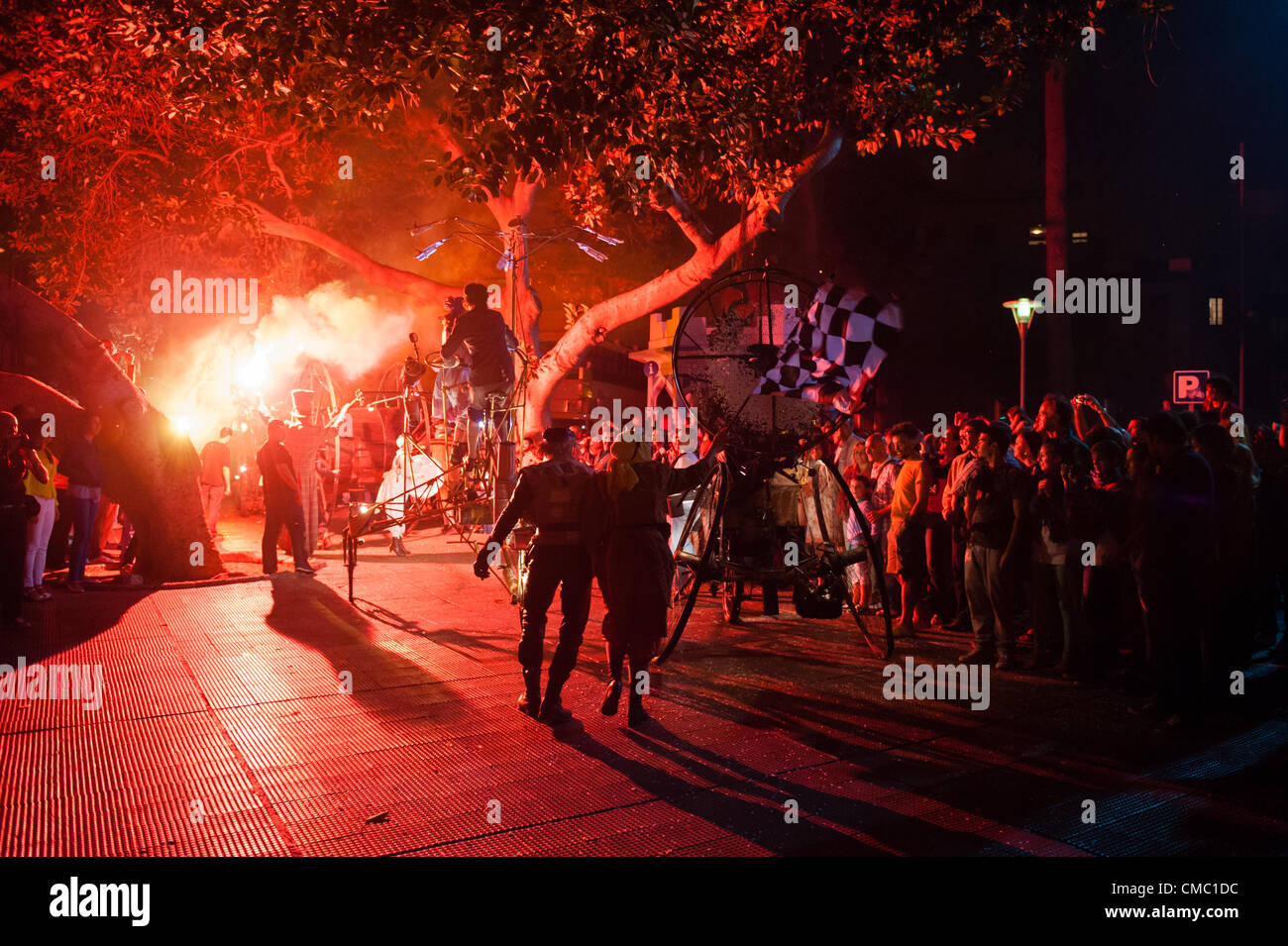 July 13, 2012 – Las Palmas, Canary Islands, Spain – Titanick from Germany, a street-theatre, runs a crazy race, - Stock Image