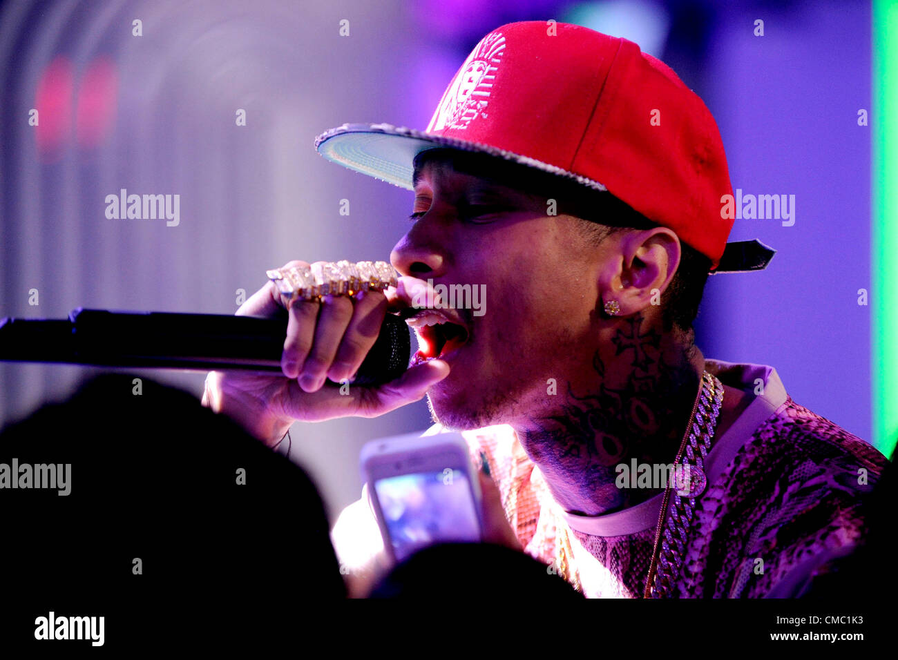 July 13, 2012 - Toronto, Canada - Rapper Tyga appears on Canadian TV