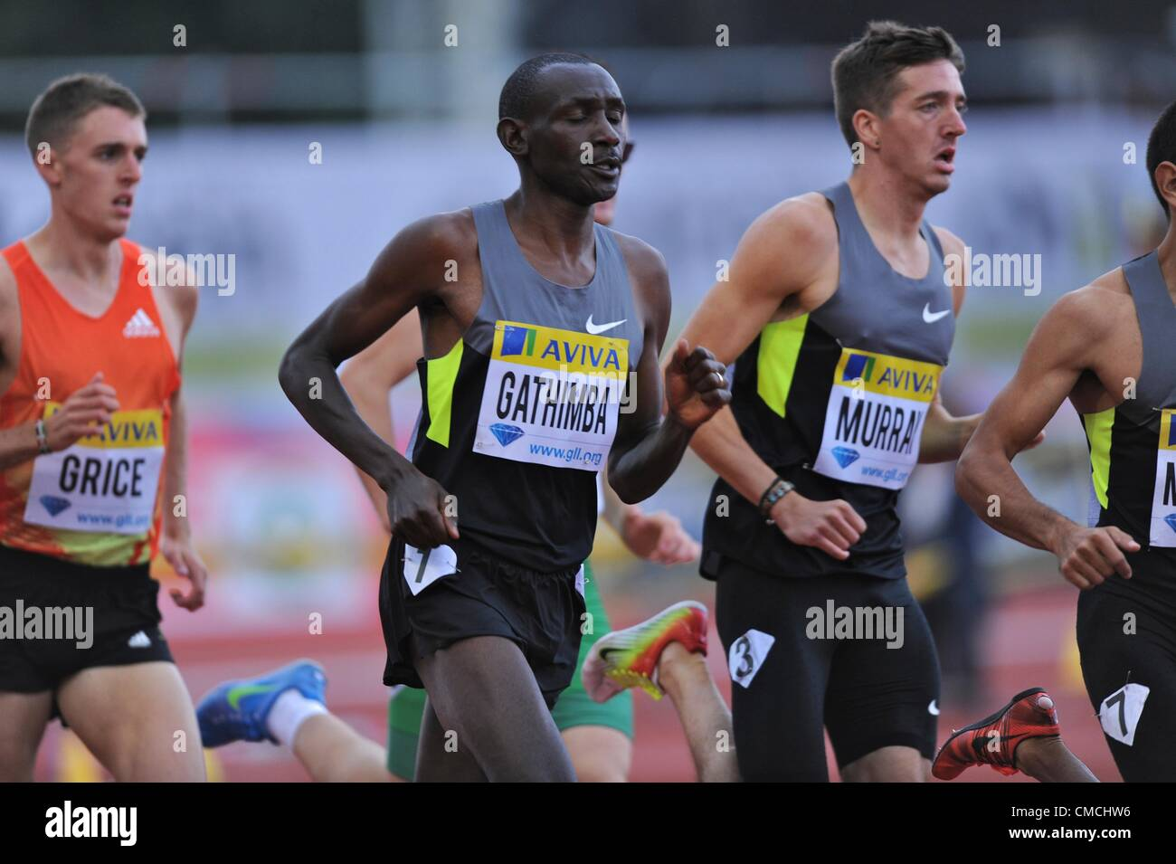 14.07.2012 London ENGLAND Mens one mile,Gideon Gathimba, KEN in action during the Aviva Grand Prix at the Crystal - Stock Image