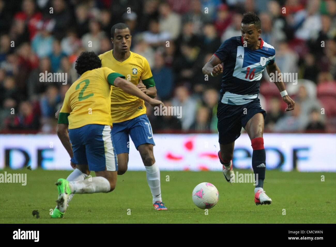 20.07.2012 Middlesbrough, England. Scott Sinclair in action during the Mens Olympic Football Warm Up Friendly between - Stock Image