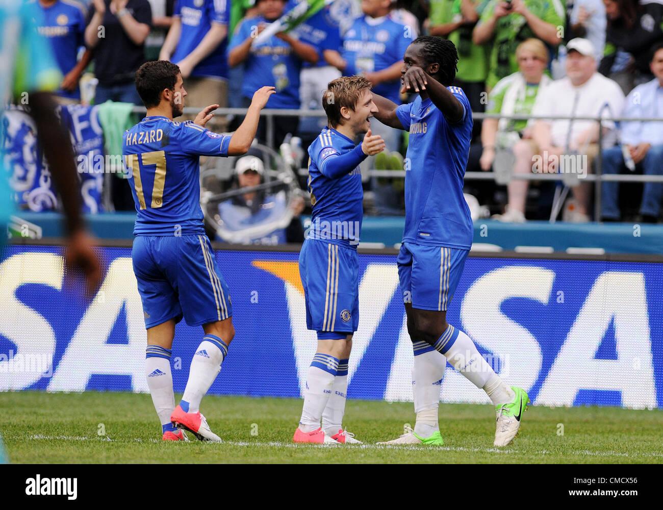 July 18 2012 Chelsea Fc Forward Romelu Lukaku 18 Celebrates His Stock Photo Alamy